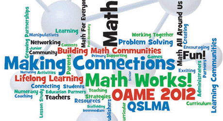 OAME 2012 Conference – May 10-12 – Kingston, Ontario