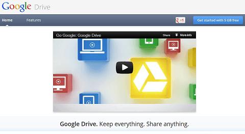 Screenshot of Google Drive Advertisement Page