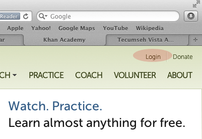 Khan Academy - How to Login to Website