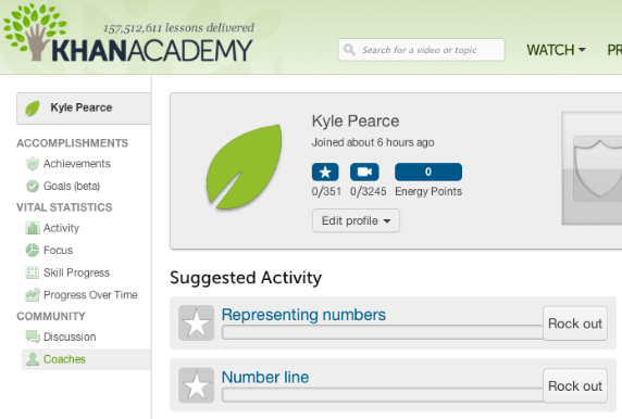 how to delete khan academy account