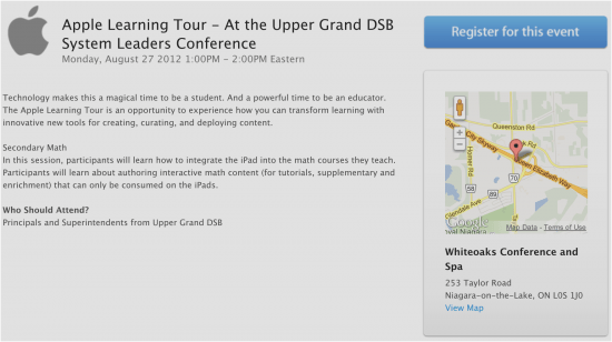 Join Me @ Apple Learning Tour – Upper Grand DSB System Leaders Conference