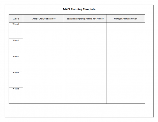 MYCI Planning Template
