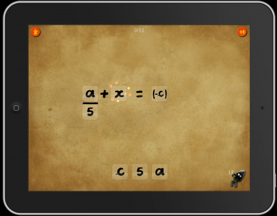 iPad DragonBox+ Math App Easy Way to Solve Equations