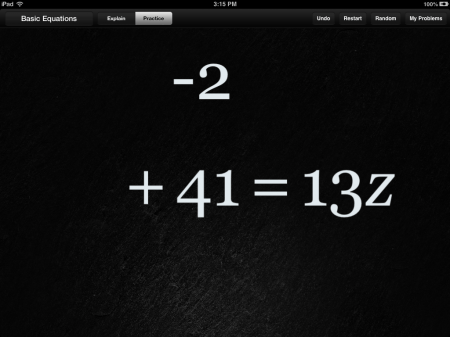 Algebra Touch Math Help App | Opposite Operations
