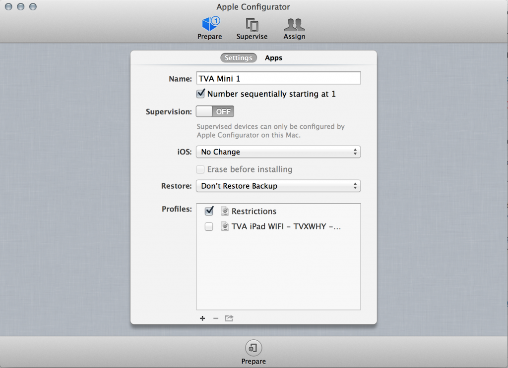 Setup iPad With Apple Configurator
