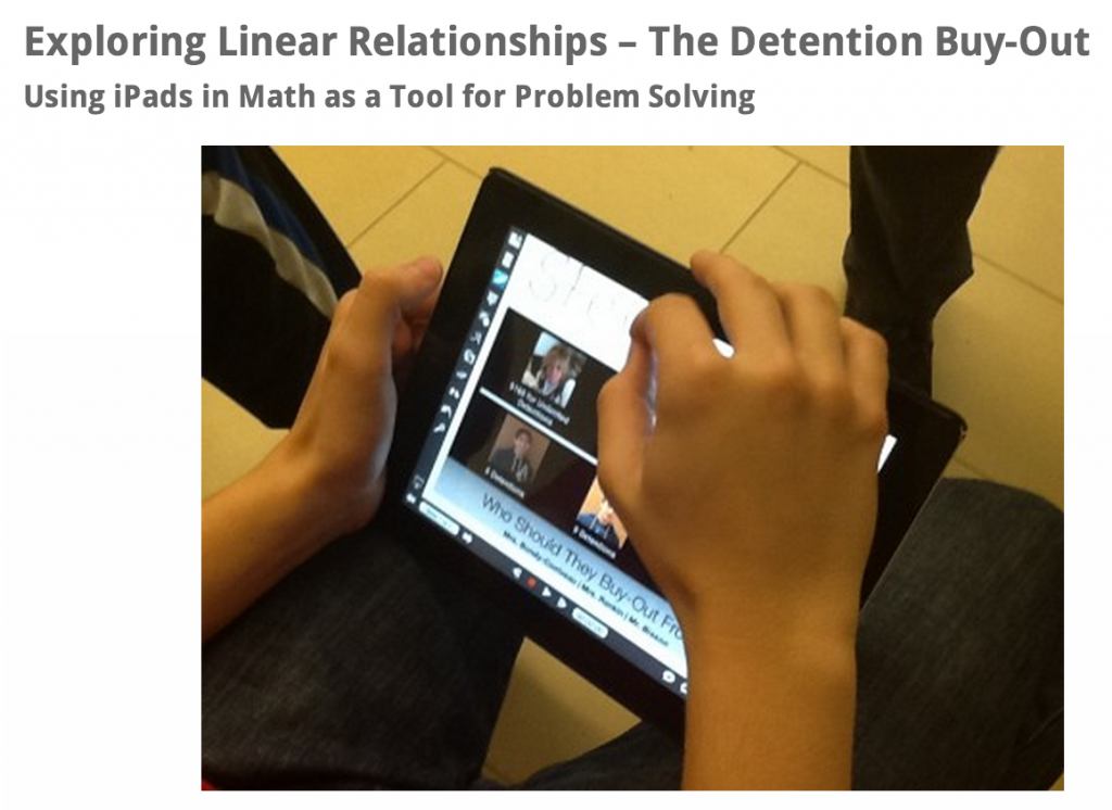 Explore Linear Relations - The Detention BuyOut Real World Math