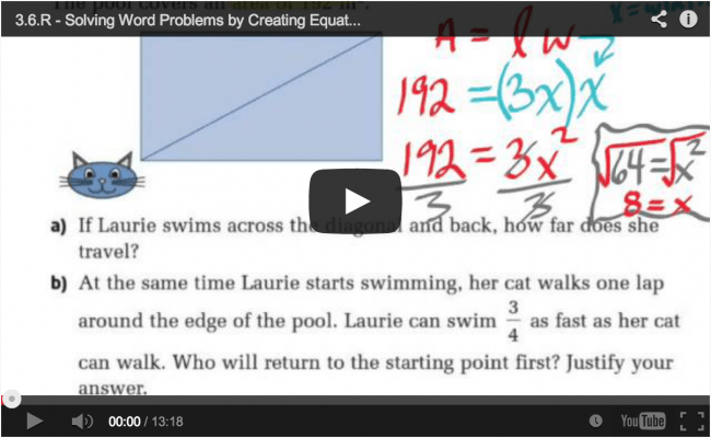 Math Videos – MPM1D Unit 3 Solving Equations