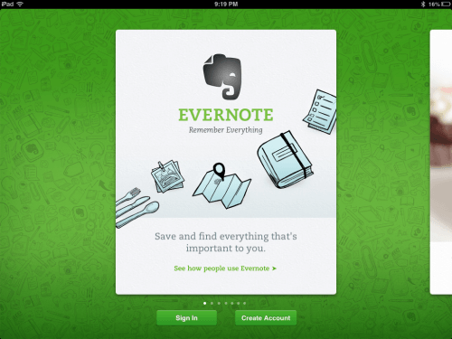 Evernote – For Assessment and Evaluation