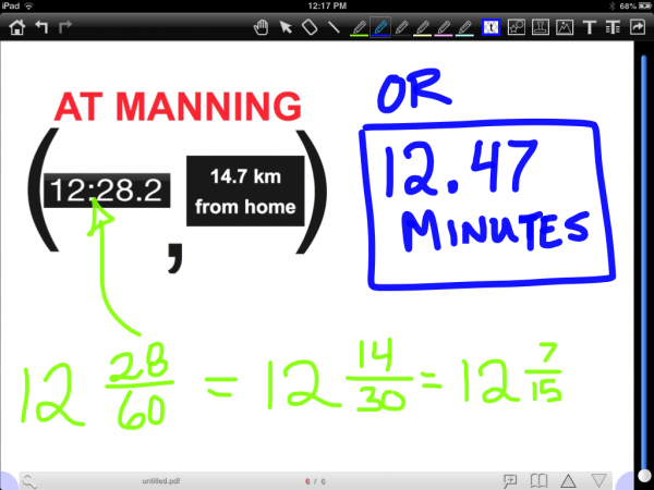 The Drive to Work - Converting Mixed Fraction to Decimal