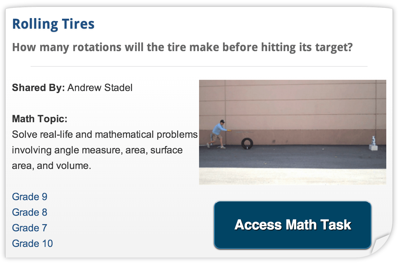 Share Your 3 Acts Real World Math Tasks