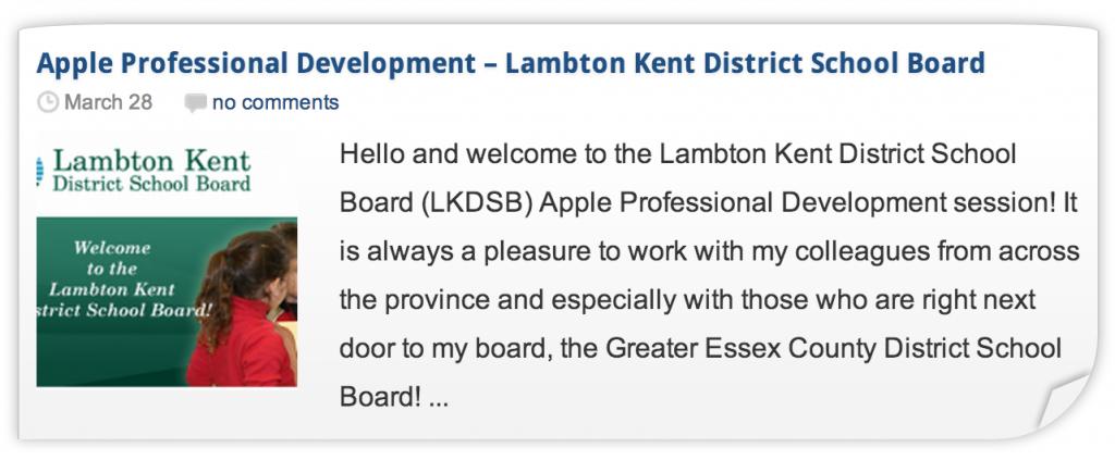 LKDSB Apple Professional Development iPad Workshop 1