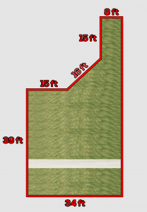 Dimensions of the Lawn from Above