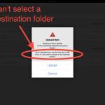 Google Drive iOS Doesn't Allow Selecting Destination Folder