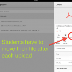 Google Drive iOS Makes Students Move Files to Shared Folders After Each Upload