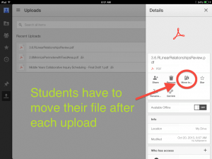 Google Drive iOS Makes Students Move Files to Shared Folders