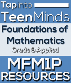 MFM1P Grade 9 Applied Mathematics Resources
