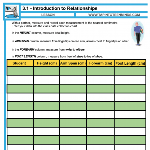 3.1 – Introduction to Relationships | Math Task Template