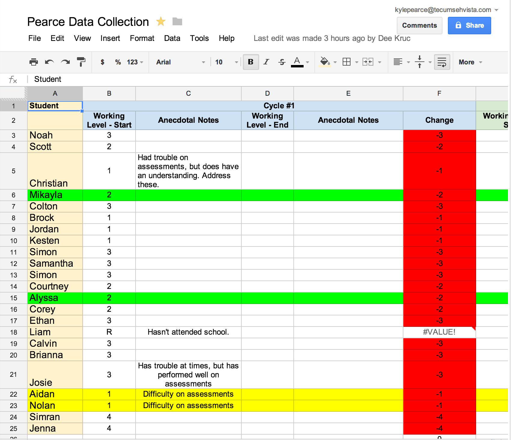 Collecting Data With Google Drive for Your PLC
