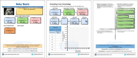 Baby Beats 3 Act Math Task Template PDF
