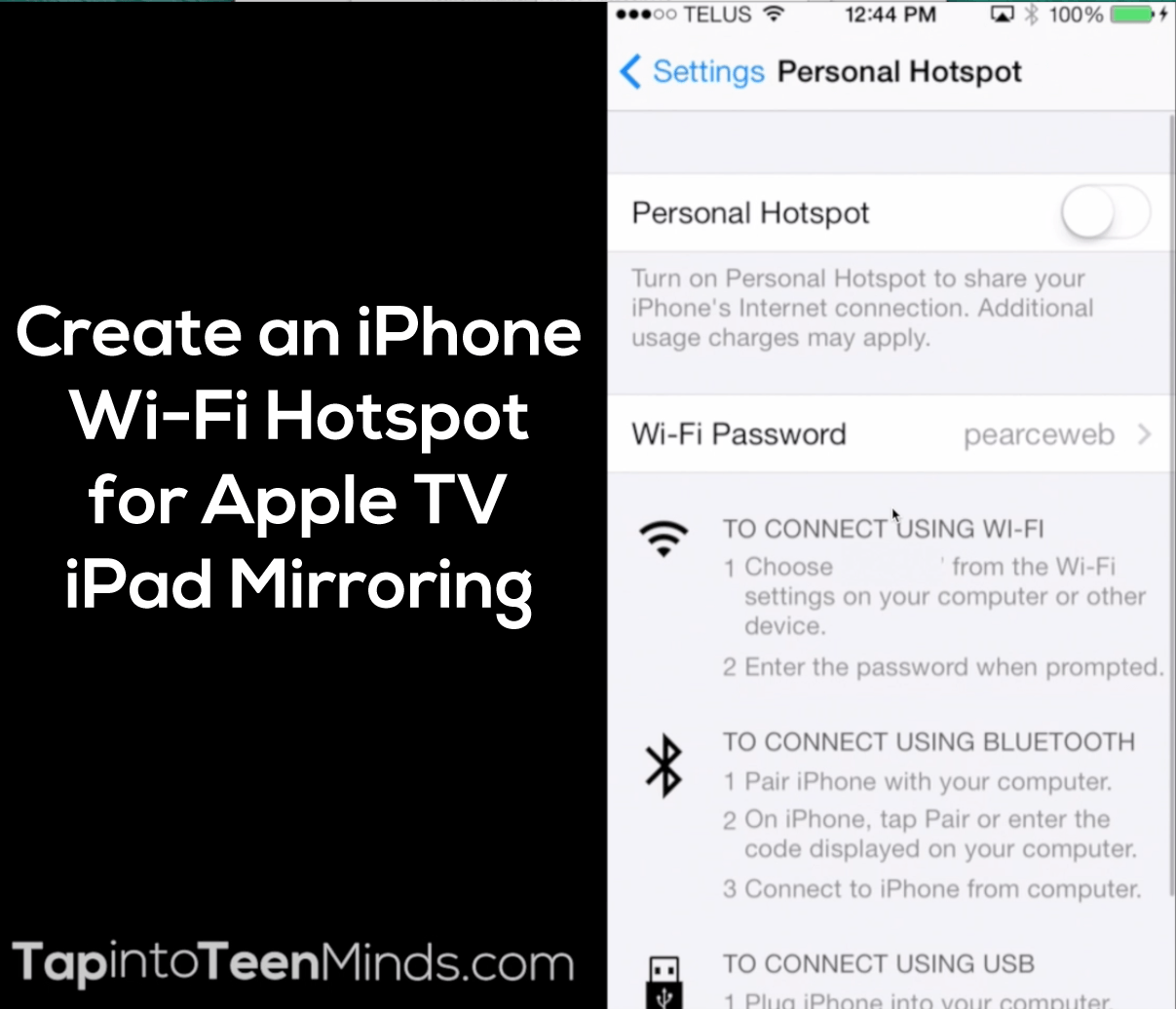 how to make my iphone a hotspot seamless apple tv mirroring 2 of 3 create an iphone 20163