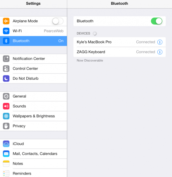 Ensure Bluetooth is Enabled on MacBook and iPad