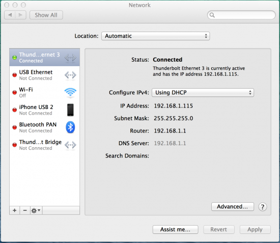 Step 2 - Determine Which Thunderbolt Port Ethernet is Using
