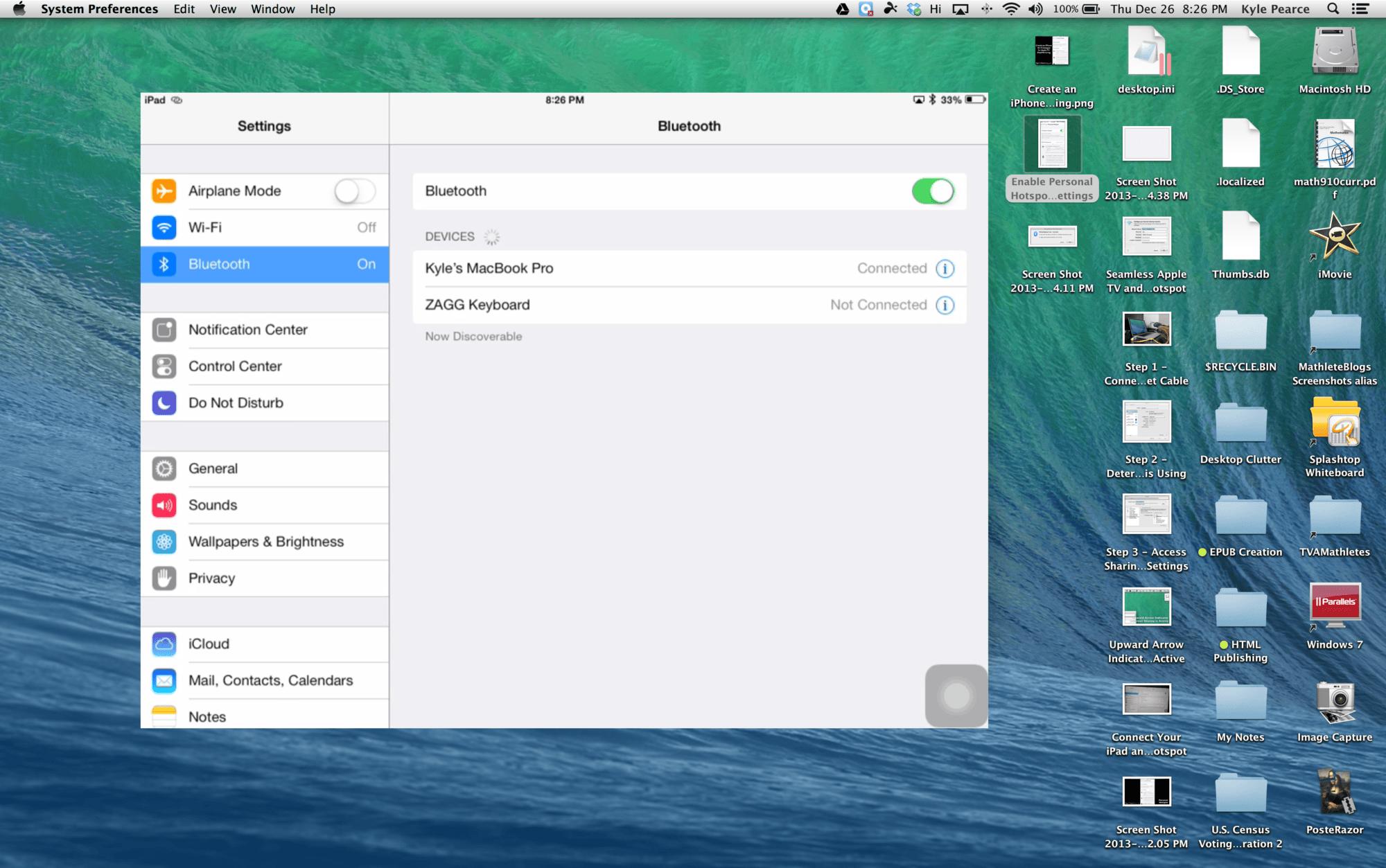 Seamless Apple TV iPad Mirroring 3 of 3: Bluetooth iPad