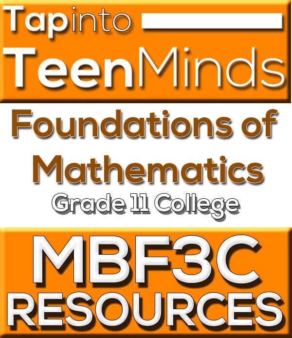 MBF3C Grade 11 College Math | Foundations of Mathematics