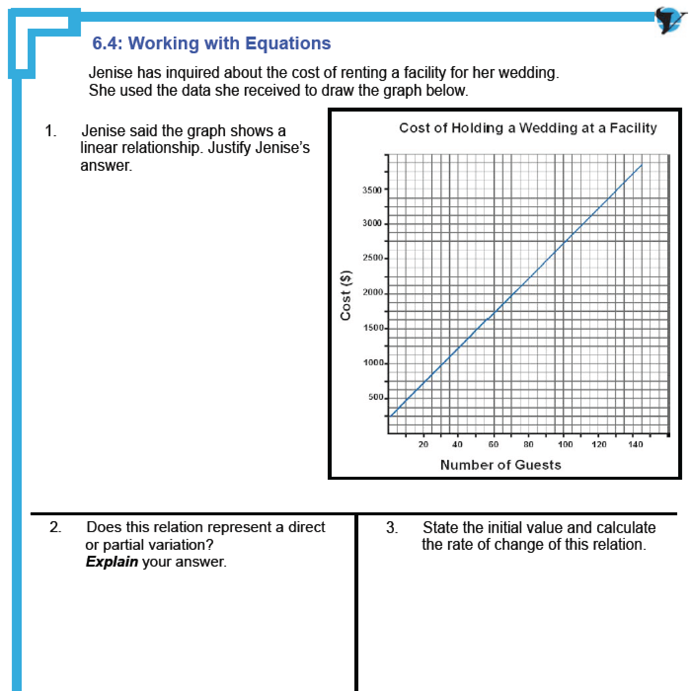 worksheet Math Models Worksheets 6 3 mathematical modelsmultiple representations of linear relations