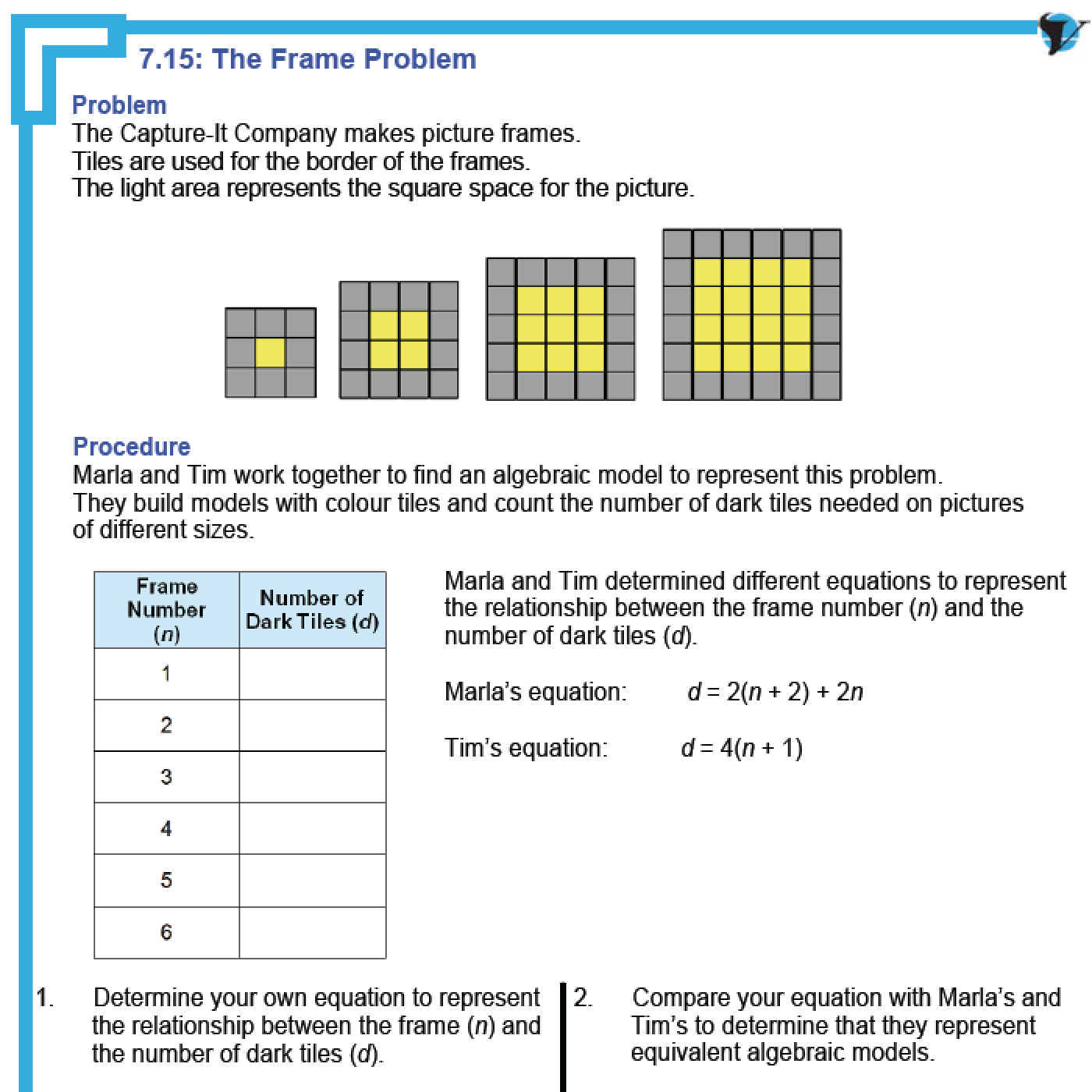 Tiling Patterns Maths Worksheets – Grade 6 Math Patterning Worksheets