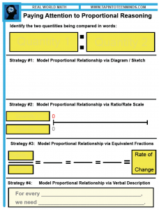 Paying Attention to Proportional Reasoning Template