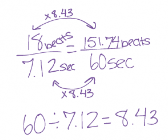 Baby Beats - Typical Proportional Reasoning Solution