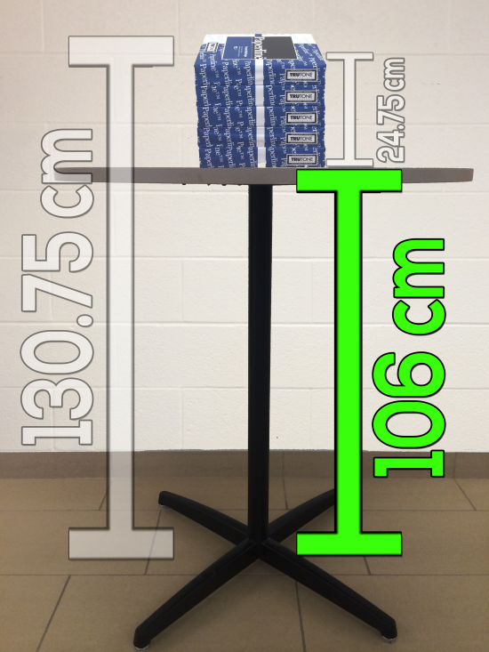 Act 3 Stacking Paper Sequel - Height of Table