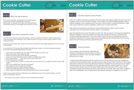Cookie Cutter Teacher Resource Guide Screenshot
