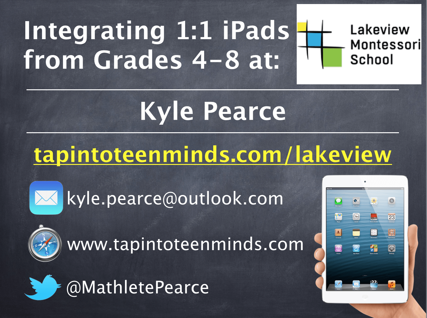 Lakeview Montessori 1:1 iPad Implementation Session Resources