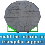 Big Nickel - What Are The Interior Angles of the Triangular Supports Diagram