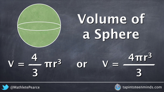 Discovering the Volume of a Sphere Formula - Connecting Visual to Algebraic