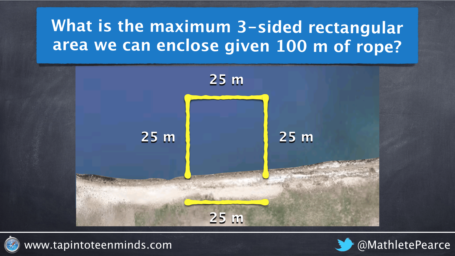 Visualizing the Maximum Area of a 3-Sided Rectangular Enclosure