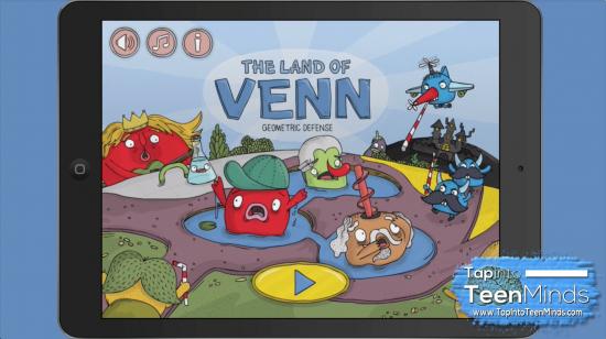 The Land of Venn - Geometric Defense Opening Screen