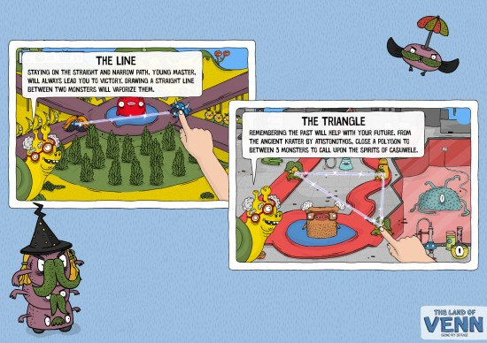 The Land of Venn - Line and the Triangle Intro Screens
