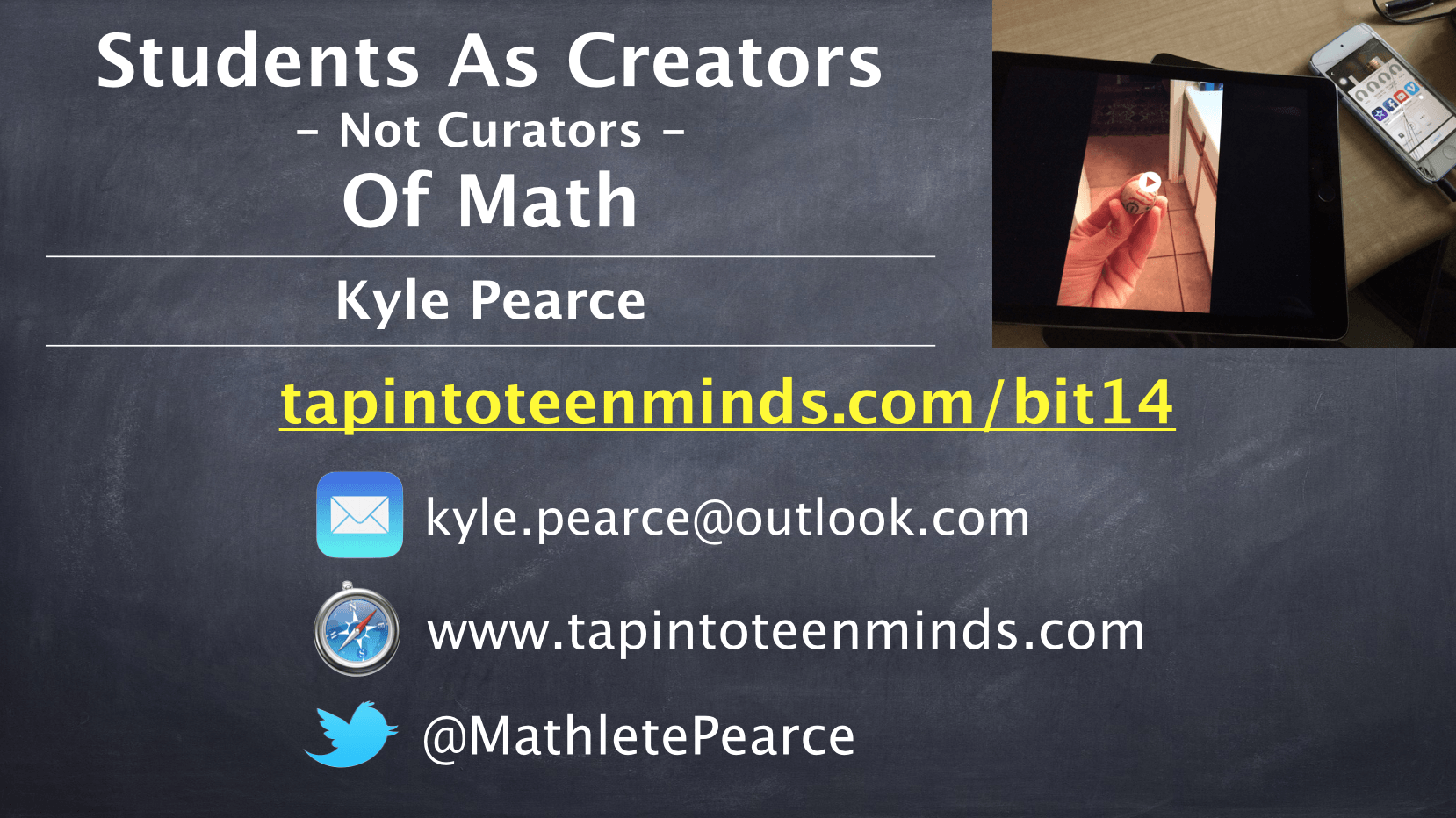 Students As Creators – Not Curators – Of Math at #BIT14