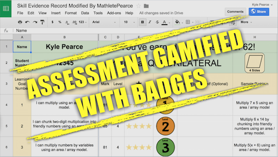 Standards Based Grading GAMIFIED With Badges