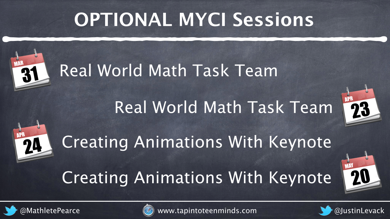 Expression of Interest for Optional MYCI PD Sessions