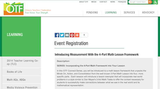 Introducing Measurement With the 4-Part Math Lesson Framework - OTF Connect Webinar