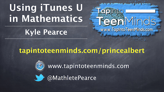 Using iTunes U in Math Class – Prince Albert Grand Council