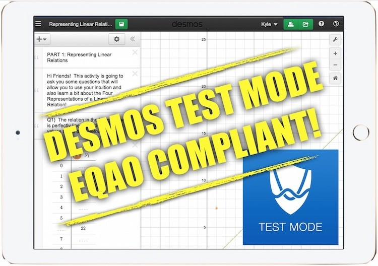 EQAO Guidelines Allow Use of @Desmos Test Mode App