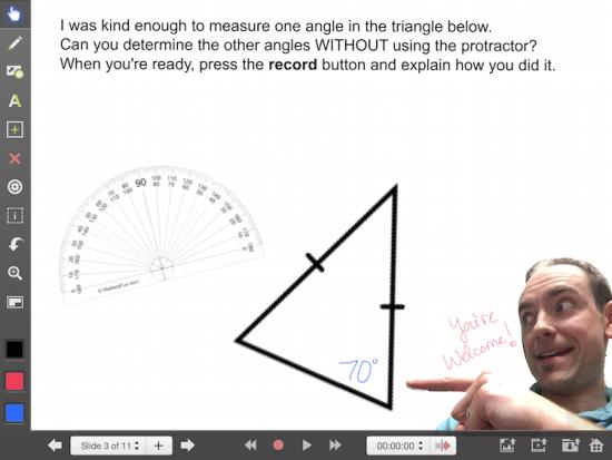 Explain Everything Math Learning Journey - Isosceles Triangle Theorem