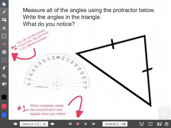 Explain Everything Math Learning Journey - Isosceles Triangle Theorem Discovery