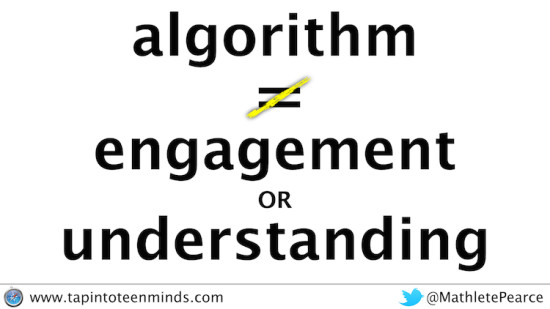 Unmasking Education's Biggest Buzzword - Using an Algorithm doesnt imply engagement or understanding