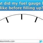 Gas Guzzler - What Did My Fuel Gauge Look Like Before Filling Up
